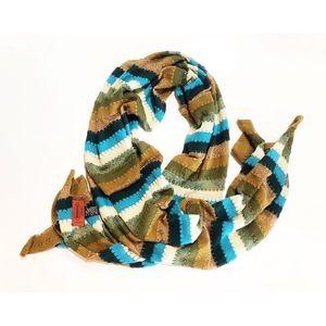 Missoni Hand Knitted Striped Scarf / Shawl